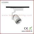 Precio de fábrica 7W LED negro COB Track Lighting LC2307t