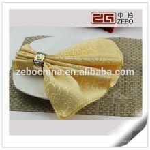 Serviette 100% en polyester Jacquard en tissu, serviette de table, linge de table