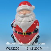 Heißer Verkauf keramischer Behälter für Weihnachten