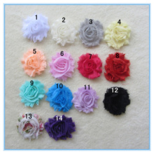 Rag Solid Color Chiffon Flower 2.5 inch Flower Lace Chiffon Flower Headdress Old Clothing Accessories