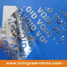 Silberne Aluminium Präge Tamper Proof Void Folie