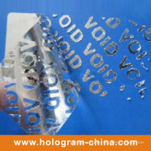 Silver Aluminum Embossing Tamper Proof Void Foil