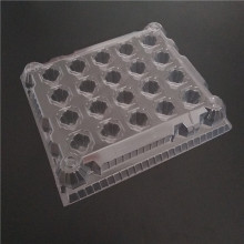 Clear transparent plastic refrigerator egg holder tray for 65-70g eggs
