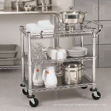 Restaurante Hotel Metal Moving Trolley de cocina (TR361836A3CW)