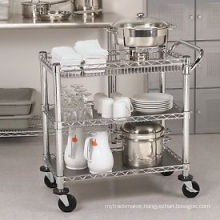 Restaurant Hotel Metal Moving Cooking Trolley (TR361836A3CW)