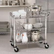 Restaurante Hotel Metal Moving Trolley Cozinha (TR361836A3CW)