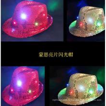 Chapeaux et casquettes lumineux faits sur commande de LED, casquette de base-ball légère de LED