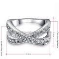 Platinum Plating Crossed Charming Womens Rings