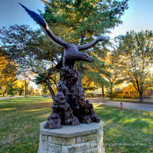 бронзовое литье Литейный металл ремесло большой бронзовый Орел скульптура