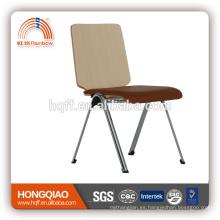 CV-B191BSD base de metal cromado asiento de la PU silla de la escuela fija con alto quanlity