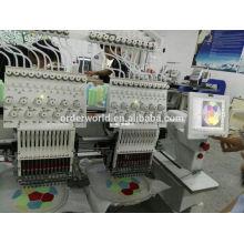 2 cabeças 12 agulhas máquina de bordar para boné e t-shirt
