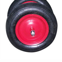 350mm Pneumatic Rubber Wheels with Axle, Line Pattern, Popular for Bosnia and Herzegovina Market
