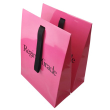 Unique Gift Coated Paper Bag with Ribbon Handles