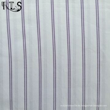 Tejido de popelín de algodón hilado teñido de tela para prendas de vestir camisas/vestido Rls50-1po