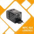 Multi-Travel 110-240V adaptador de tomada Adaptador de carregador de viagem universal com usb dupla