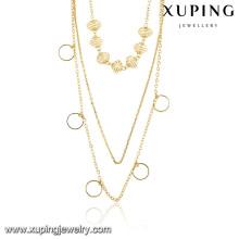 42961-bijoux de fantaisie italie Collier en alliage d'or massif 14K