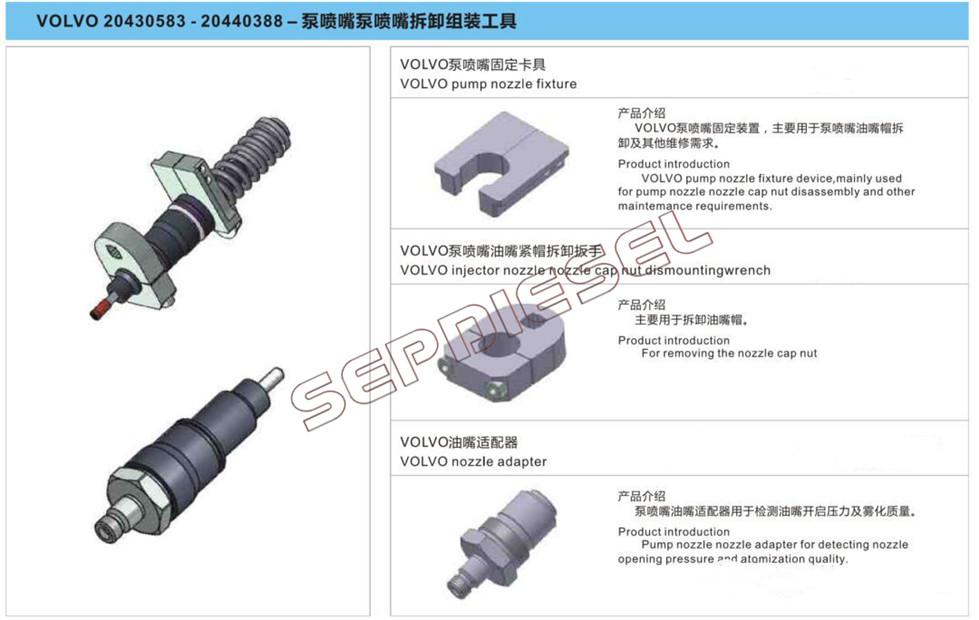 Sdt17 2 Pins 4 Pins Volvo Eui Injector Assembling And Disassembling Repair Tools 1