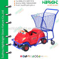 Shopping mall kids/baby/children trolley cart with toy car