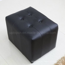 Wholesale Commercial Hotel Room Leather Cube Stool (SP-ES103)
