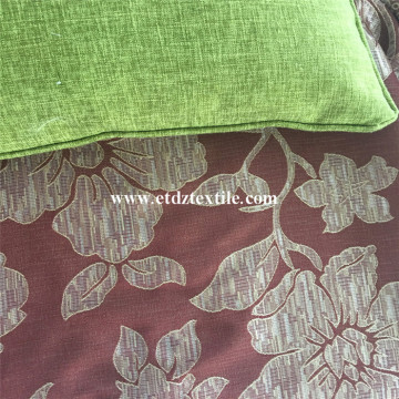 Special Redish Golden Jacquard Curtain Fabric