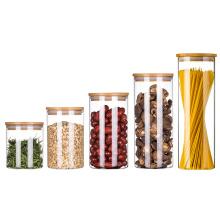 ROWEY borsilicate glass food food grade home storage glass jar 16 oz air tight glass magnifying weed stash storage jar