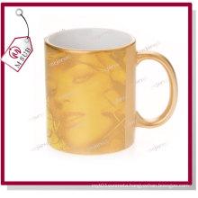 11oz Golden Ceramic Mugs by Mejorsub