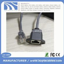 RJ45 Rede Ethernet LAN Macho para cabo de extensão fêmea