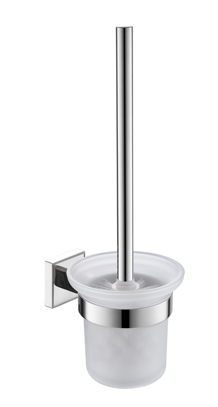 Stainless steel brush toilet holder