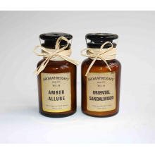 120g customizable logo and design paraffin/soy wax scented candle in brown glass jar
