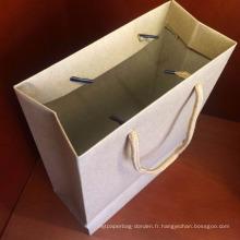 Sac cadeau de papier de sac en papier kraft en gros de taille personnalisée pour faire du shopping
