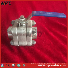 Forged Stainless Steel Threaded Ball Valve