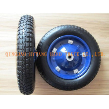 rubber wheel steel rim with axle