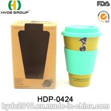 Ungiftige tragbare biologisch abbaubare Bambusfaser-Kaffeetasse (HDP-0424)
