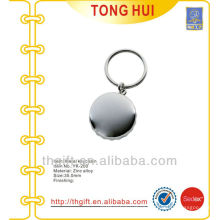 Metal silver round Capsule shape keychains blank
