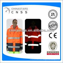 EN471 / ANSI barato hola 300D oxford impermeables con tiras reflectantes