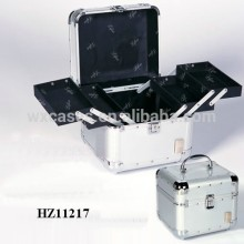 fashionale aluminum vanity case with 4 trays