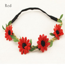 Sunflower 4PCS Red Garland Hair Band (HEAD-348)