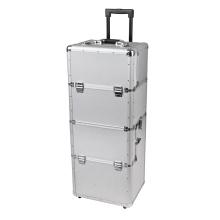 Boîte à outils en aluminium de transport personnalisée avec insert personnalisé en mousse