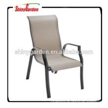 Hoher zurück stapelbarer Speisearm-Riemenstuhl, moderner Freizeitriemenstuhl