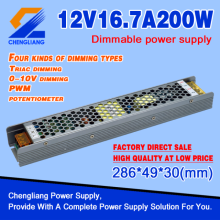 Alimentation d'énergie dimmable mince de 12V 200W LED