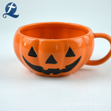 Ensemble de vaisselle en céramique à thème citrouille Halloween