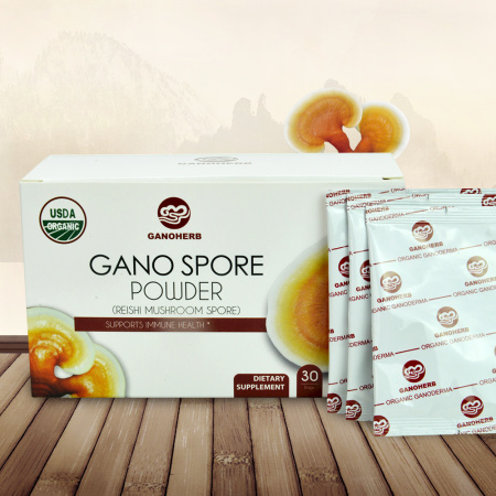 USDA Approved 100% Organic Lucid Ganoderma Lingzhi Shell-Broken Spore Reishi Mushroom Powder
