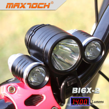 Maxtoch BI6X-2 4*18650 Battery Pack 3*CREE XML T6 Led Light For Bicycle