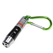 Металлический фонарь белого света с ярко-зелеными карабин для украшения