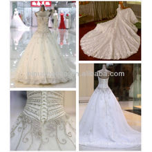 2014 Luxury Sweetheart Long Train Heavy Crystal Ball Gown Wedding Dresses Gowns NB071