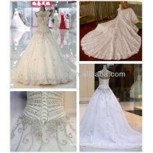 2014 Luxury Sweetheart Long Train Vestido de bola de cristal pesado Vestidos de casamento Vestidos NB071