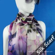 Bufanda larga personalizada con tela de seda