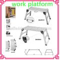 Aluminium Platform Work Bench Folding Step Ladder EN131& CE 150Kg Hop UP