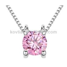 Italienische Top Design Schmuck zarte rosa Kristall Halskette für Mädchen