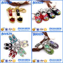 Joyería barata del encanto del zapato de bebé de la aleación del metal del esmalte